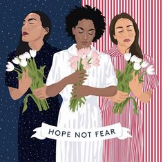 """'Hope Not Fear' Indeed.  And what a beautiful piece by Louisa Cannell.  #womensmarch ✨"""
