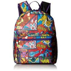 75d1bdfc370e Pokemon Backpack Boys Multi Character Comic Strip 16