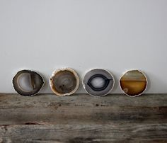 Gold & Silver Agate Coasters