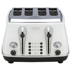Buy De'Longhi Icona 4 Slice Toaster - White from our Toasters range - Tesco Toasters, Home Furnishings, Kitchen Appliances, Range, House, Ideas, Food, Diy Kitchen Appliances, Haus