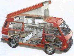 X-ray Volkswagen Vanagon Westfalia popup camper #t25 #t3 #vw