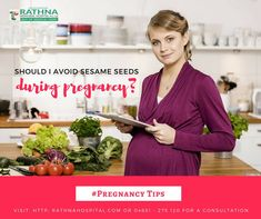 is it safe to eat sesame seeds during pregnancy? #Rathnahospital #Fertility #Pregnancy #Baby #women\'s #care #RathnamemorialHospital #kanniyakumari #Fertilitytip #Tips #PregnancyDoubt #duringpregnancy #WhilePregnant .#RathnaFertility #RathnaMemorials #rathnafertilitycenter #RathnaHospitals #sesameseeds