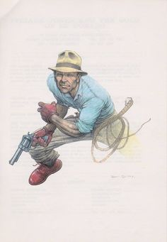 Indiana Jones by Frank Quitely * - Art Vault