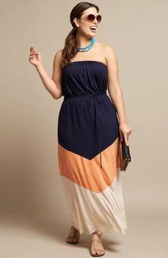 Loveappella Strapless Maxi Dress (Plus Size) Outfits Plus Size, Plus Size Maxi Dresses, Summer Dresses, Summer Maxi, Uk Summer, Casual Summer, Canada Summer, Outfit Summer, Summer Clothes