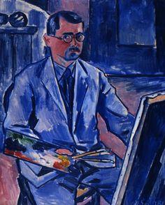 VÁCLAV ŠPÁLA (1885-1946) Vlastní podobizna, 1931, olej, plátno, 101×81 cm Fauvism, Figure Painting, Painters, Modern Art, Graphic Design, Selfie, Texture, Illustration, Artist