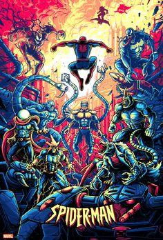 Dan Mumford, Alex Pardee, Spider Art, Spectacular Spider Man, Pop Culture Art, Superhero Movies, Archie Comics, Amazing Spiderman, Fantastic Art