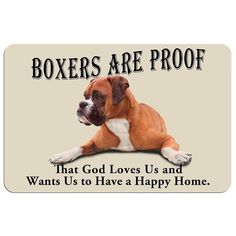 Boxers are Proof Dog Floor Mat, Multicolor