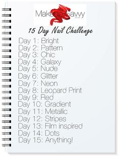Nail Challenge list by makeupsavvycouk, via Flickr