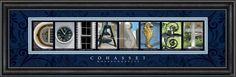 Cohasset, MA. Framed Letter Art
