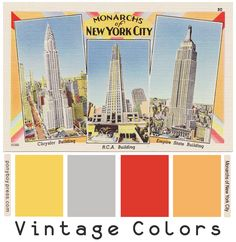 Monarchs of New York City - hex color codes on the blog- Ponyboy Press