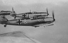 A flight of Messerschmitt Bf 109 E1's Early 1940