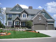 This 4 bedroom home features a large two-story great room. House Plan # 271511.
