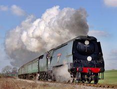 "/by Arle Images Bullied Pacific ""Wadebridge"" 34007 Electric Locomotive, Steam Locomotive, Steam Trains Uk, Football Poses, Uk Rail, Model Railroader, Heritage Railway, Rail Transport, Steam Railway"