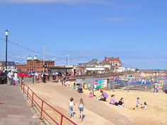 Beach & Promenade at Gorleston, Norfolk, England, UK