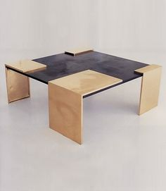 14 Wood And Slate Coffee Table Inspiration Art Furniture, Design Furniture, Luxury Furniture, Modern Furniture, Slate Coffee Table, Furniture Inspiration, Decoration, A Table, Bronze