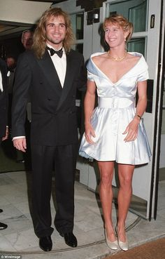 Andre Agassi and Steffi Graf at the the Wimbledon Winners Ball in 1982. The pair are still married