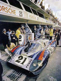 Le Mans 1971 . Martini Porsche 917LH , Elford-Larrousse :: via jacqalan