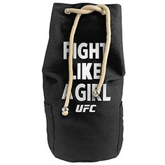 Cool Black Fighter Fight Like A Girl 2015 Drawstrings Gym Backpack Bag -- You can get additional details at the image link. #GymBags