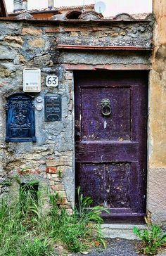 Strong purple door