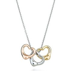 2017 new Tiffany Pendant Silver And Gold Three Open Hearts on sale online, save up to 90% off being unfaithful limited offer, no tax and free shipping.#style #shopping #womenstyle #jewelry #jewelrygram #jewelrydesign #jewelrymaking #beauty #tiffanyjewelry #rings #bracelet #bangle