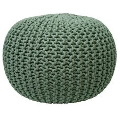 Knitted pouf- Fair Green