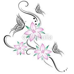 Fiori e farfalla