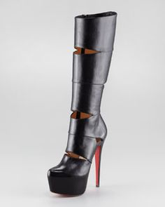 This is why I work out! Would love to be able to wear these! Christian Louboutin Bandita Leather Boot