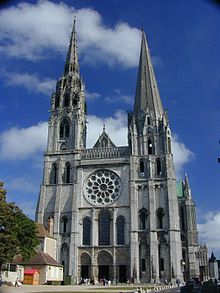 Our Lady of Chartres Cathedral (France), Gothic architecture, mid century to century Romanesque Architecture, Sacred Architecture, Cultural Architecture, Classic Architecture, Amazing Architecture, Temples, Cathedral Church, Cathedral Basilica, Gothic Cathedral