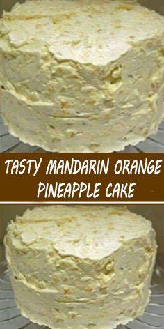 Mandarin Cake, Mandarin Oranges, Mandarin Orange Pineapple Cake Recipe, Kid Desserts, Delicious Desserts, Cake Mix Recipes, Dessert Recipes, Easter Recipes, Pinapple Cake