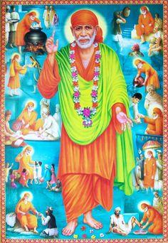 Sai Baba of Shirdi, Hindu saint Sai Baba Pictures, God Pictures, Shirdi Sai Baba Wallpapers, Indian Spirituality, Sai Baba Hd Wallpaper, Kali Mata, Sai Baba Quotes, Baba Image, Sri Rama