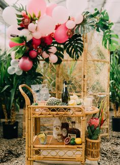 Tropical Bridal Shower in A Greenhouse - Inspired By This