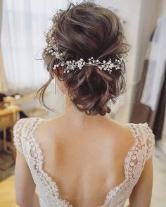 Long Bridal Hair, Bridal Hair Vine, Vintage Bridal Hair, Headpiece Wedding, Bridal Headpieces, Hair Wedding, Wedding Veils, Gold Wedding, Crystal Wedding