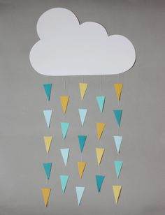 april showers mobile - change and make out of fabric and change the droplet colors