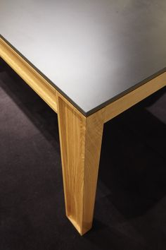 'Modern table' in solid black ash or natural oak with black laminate top by Osko & Deichmann. Nice carving detail on frame. Coming later 2016 Ligne Roset, Modern Table, Dining Furniture, Contemporary Furniture, Home Office, Home Accessories, Solid Black, Ash, Highlights