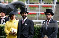 Haya bint Al Hussein y su marido, Mohammed bin Rashid bin Saeed Al Maktoum, Ascot, 17/06/2015. Foto: Alan Crowhurst