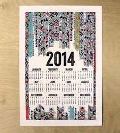 2014 Poster Calendar - Tribal Design | $20