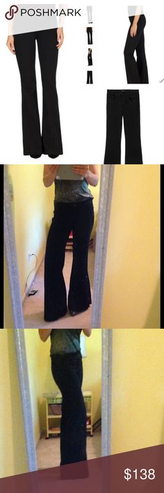 J Brand Maria High Rise Flare in Seriously Black These J Brand jeans are a fall must have!  Very inky black, slim waist, and serious flare.  They're J Brand sz 29 cut #1232.  There's some fraying on the bottoms - see 4th picture.  Reasonable offers welcome and will always do less own Ⓜ️️️️️️ercari.  Lots of other listings to bundle and save too 💕💖.  Thanks! J Brand Jeans Flare & Wide Leg