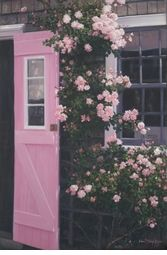 The Pink Door - Nantucket  cottage garden....