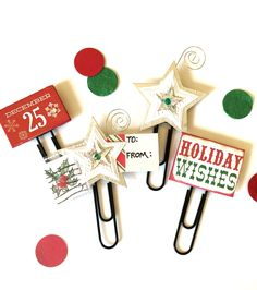 Festive Planner Clips by Jackie Benedict