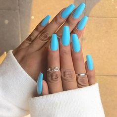Perfect babe blue nails  Yes ?  Via @lovinghautecouture   By  @sherlinanym