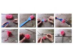 ideas con pompones de lana Crochet Necklace, Diy, Blog, Handmade, Toulouse, Content, Google, Pom Poms, Craft