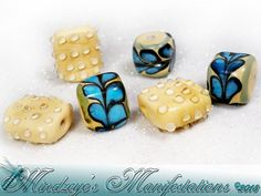 {10} Bumps & Grooves Lampwork Glass Beads. Starting at $5 on Tophatter.com!