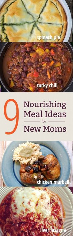 Looking to make a meal for a new mom? Or stock up meals for yourself post-baby? Here are 9 nourishing recipe ideas! http://www.mamanatural.com/meals-for-new-moms/