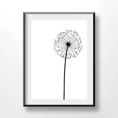 DANDELION print dandelion poster dandelion printable art
