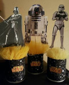 Check out this item in my Etsy shop https://www.etsy.com/listing/264246238/3-star-wars-centerpieces-the-force