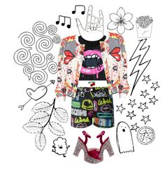 """""""got me in a spin"""" by disabledpaladin on Polyvore featuring Bling Jewelry, Moschino, Sophia Webster and ESPRIT"""