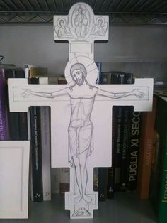Cruz Religious Icons, Religious Art, Christ Is Risen, Catholic Crafts, Cross Crafts, Mary And Jesus, Wood Carving Art, Byzantine Icons, Holy Cross