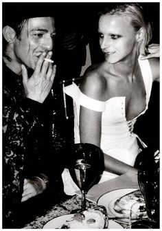John Galliano and Vanessa Bellanger .Photo by Mario Testino (1999)