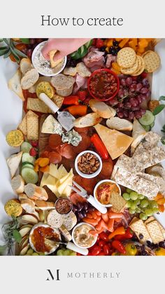 Busy mamas, this kid-friendly grazing table will totally impress your holiday guests. 😍🍇🧀🥖 food videos How to create the ultimate grazing table Amazing Food Platters, Party Food Platters, Cheese Platters, Cheese And Cracker Tray, Party Food Buffet, Cheese Table, Charcuterie Recipes, Charcuterie And Cheese Board, Charcuterie Platter