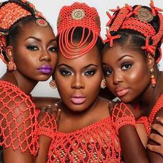 Igbo traditional wedding attire for the bride Igbo traditional wedding attire for the bride African Traditional Wedding Dress, Traditional Wedding Attire, Traditional Weddings, Nigerian Bride, Nigerian Weddings, African Weddings, African Wedding Attire, African Attire, African Dress